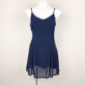 Lucca Couture Blue Polka Dot Mini Dress